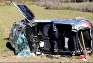 accidente de tráfico en la N-232 en Briones