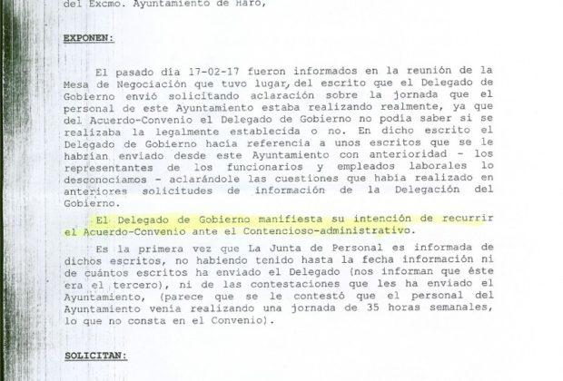 Documento Junta de Personal