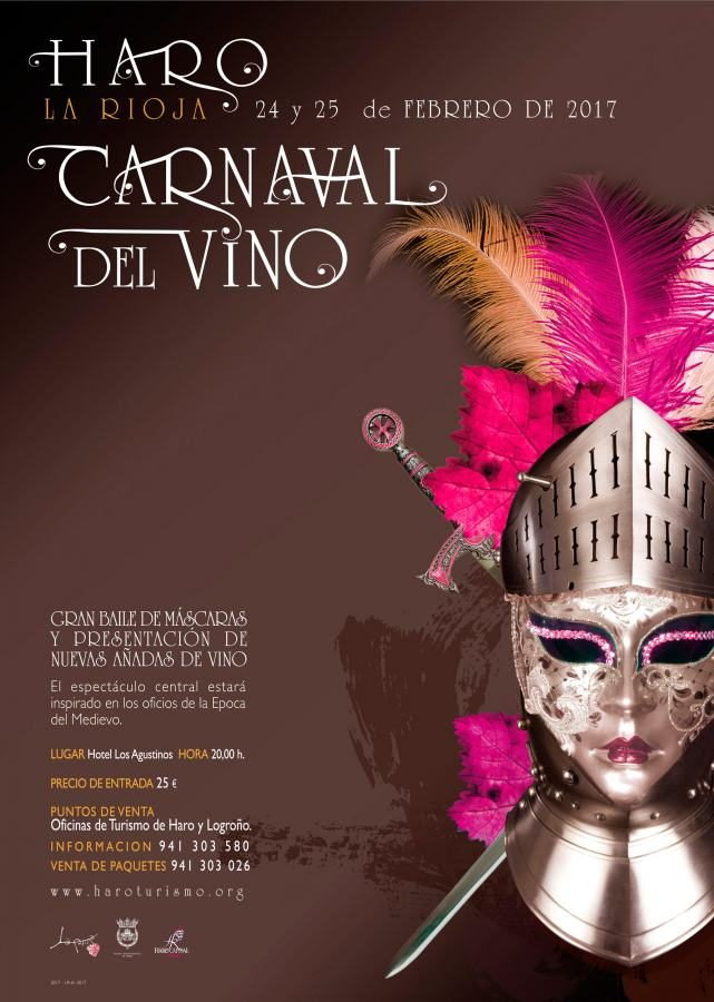 Cartel carnaval del vino