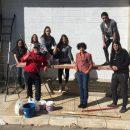 Foto proyecto mural frontón El Ferial