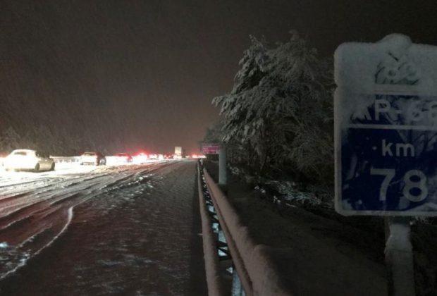 Nieve en la AP68