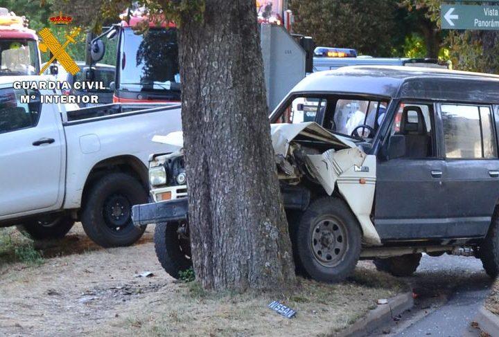 Uno de los vehiculos implicados en el accidente
