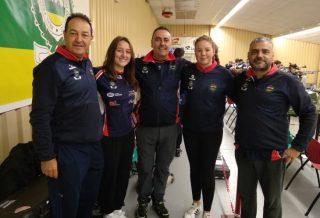 Andrea cerezo Nuria Rojas y el staf de la Copa Presidente